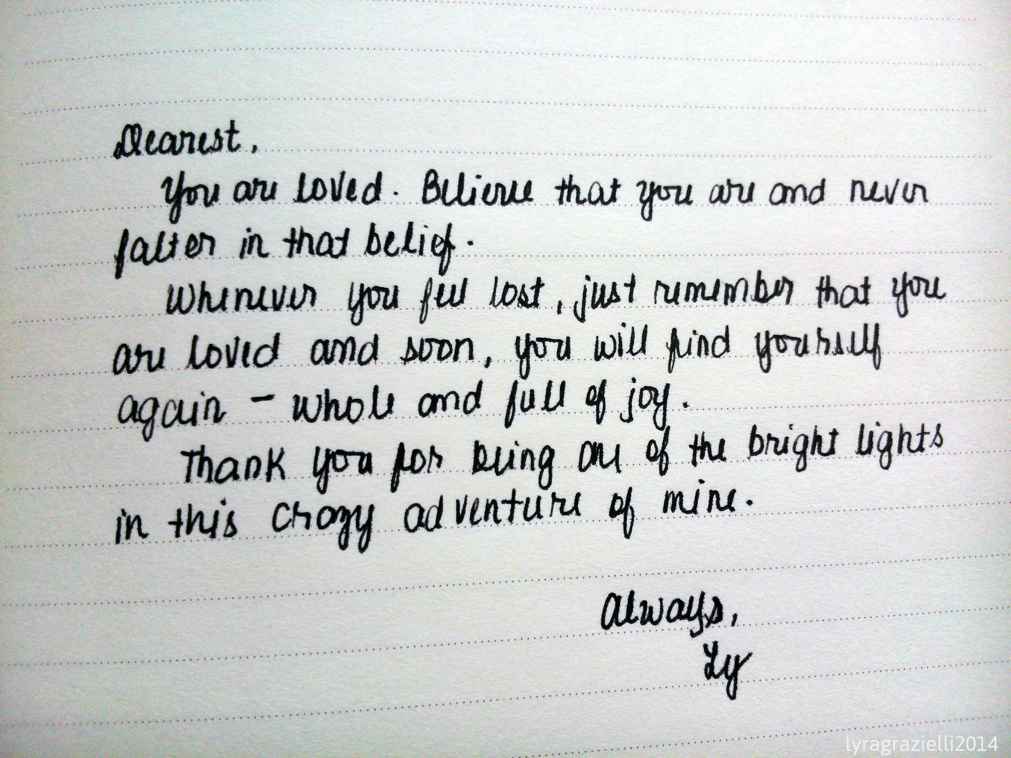 A Love Letter – Chasing Boheme