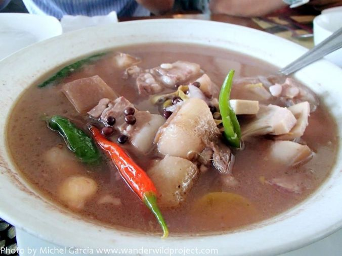 KBL, which means Kadios (a type of black bean), Baboy (pork), Langka (Jackfruit). My favorite.