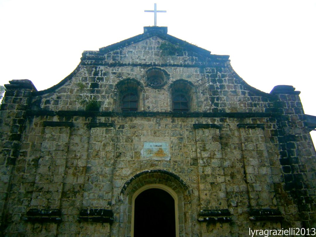 Navales Church. A century old church made out of coral stones.